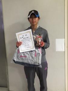 15冬中学生女子シングルス優勝者