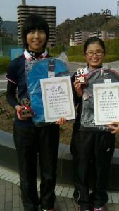 15冬中学生女子ダブルス優勝者