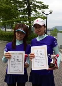 16春B級ダブルス女子優勝者